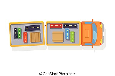 Baggage Truck Isolated Icon on White Background - Truck...