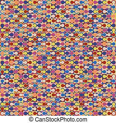 baggrund., abstrakt, geometriske, farverig
