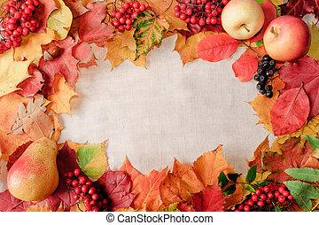 baggrund, af, efterår forlader