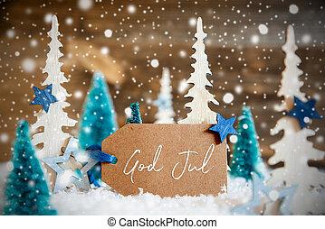 baggrund, betyder, træer, jul, gud, etikette, af træ, jul, ...