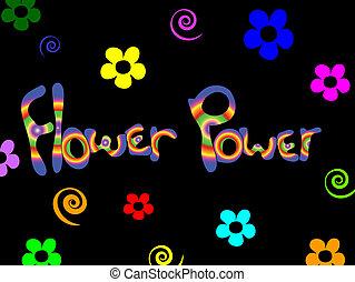 baggrund., blomst magt