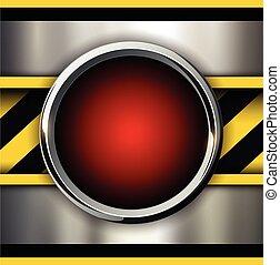 baggrund, hos, alarm, rød knap