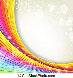 baggrund, hos, regnbue farve, og, gnistre