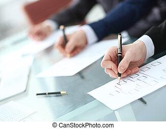 baggrund, image, i, branche hold, arbejde skrivebord