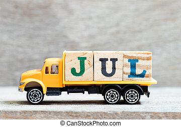 baggrund, july), greb, måned, brev, blokken, (concept, jul,...