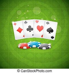 baggrund, spille cards, og, skærve