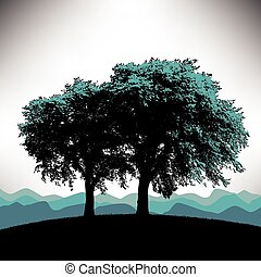 baggrund, træ