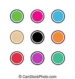 baggrund, vektor, illustration, konstruktion, abstrakt form, cirkel, ikon