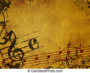 baggrunde, grunge, abstrakt, teksturer, melodi