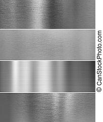 baggrunde, tekstur, metal, høj, stål, sølv, kvalitet
