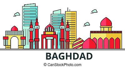 Baghdad city skyline.