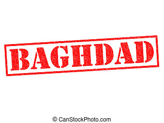 BAGHDAD Rubber Stamp over a white background.