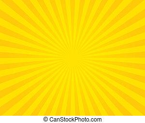 bagliore, illustration., giallo, fondo.