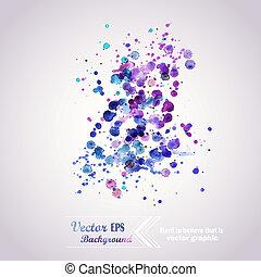 bagnato, elementi, album, illustrazione, astratto, acquarellature, acquarello, vettore, paper., colori, mano, disegnato, fondo, macchia, composizione