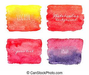 bagnato, painted., mano, acquarello, backgrounds., ombre
