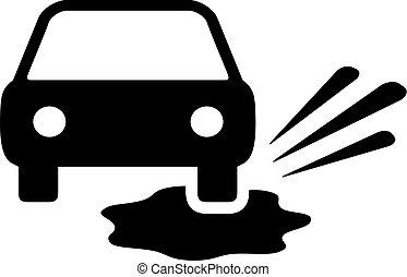 bagnato, vettore, strada, pictogram