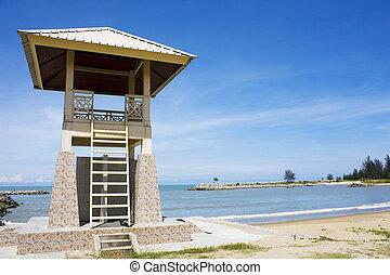 bagnino, spiaggia, torre, jerudong, brunei