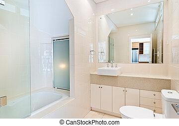bagno, di, il, lussuoso, casa