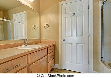 bagno, gabinetto, moderno, floor., interno, piastrella