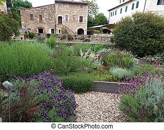bagno, idades, tuscany., meio, vignoni, sabido, spa