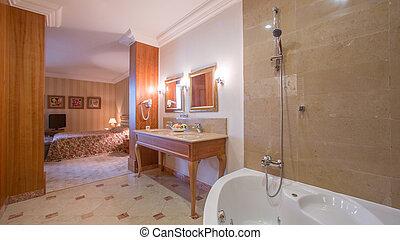 bagno, lusso, interno