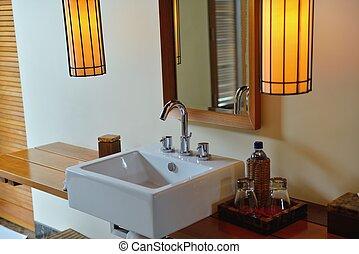 bagno, moderno, lusso