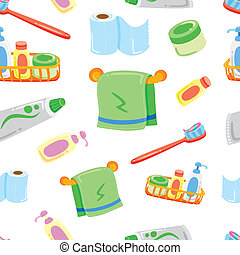 bagno, roba, cartone animato, fondo