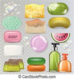 bagno, set, bellezza, soap-bubble, soft-soap, articoli ...