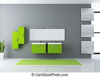 bagno, verde