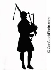 Bagpipes Against White Background - An illustration of a...