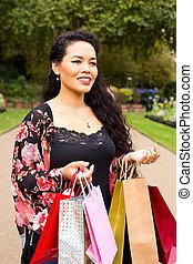 bags., 妇女购物