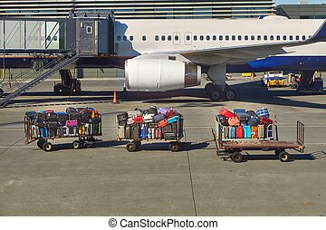 Bags at an airport