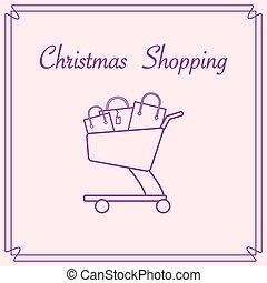 bags., carro shopping, presente