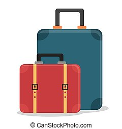 Bags design over white background, vector illustration.