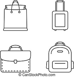 Bags Line Icons