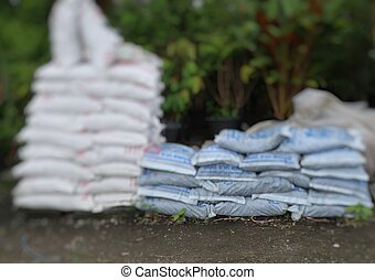 Bags of garden soil for sale