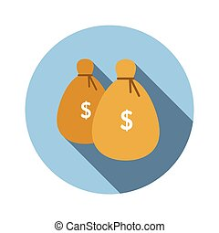 Bags of money flat icon