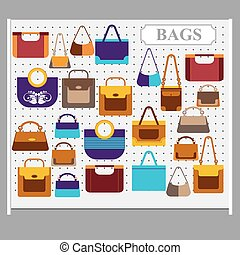 Bags on the store shelves