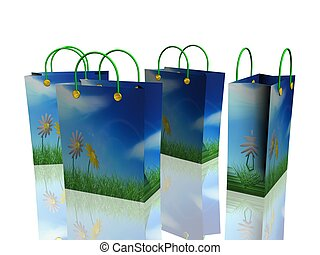bags  - colorfull shopping bags