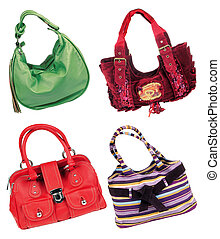 Bags - Four handbag isolated on white background...