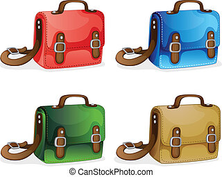 bags - illustration of bags on a white background