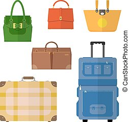Bags vector set