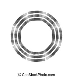 Bagua sign. Vector. Gray icon shaked at white background.