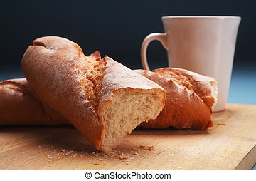 baguette and coffee