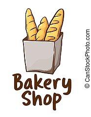 Baguette Bakery Shop Icon
