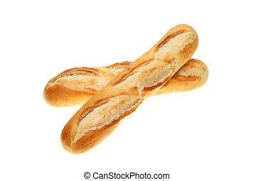 Baguette bread rolls - Two freshly baked baguette bread...