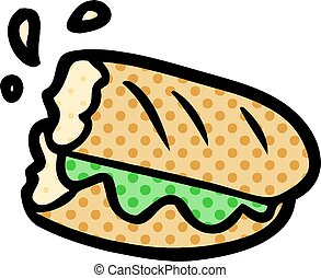 baguette, caricatura