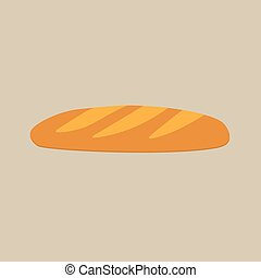 baguette or bread icon- vector illustration