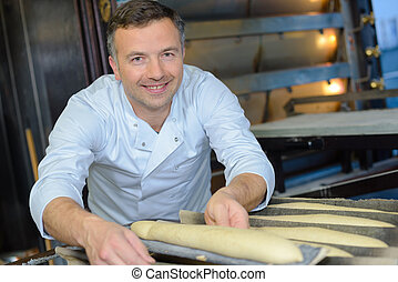 baguette, przygotowując