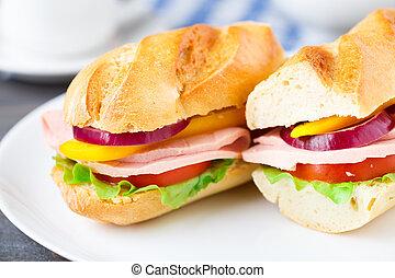 Baguette sandwich